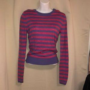 nordstrom merino wool long sleeve stripe top